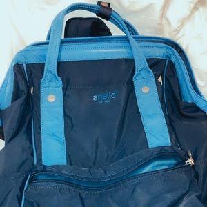 Anello Navy Two-Tone Bag